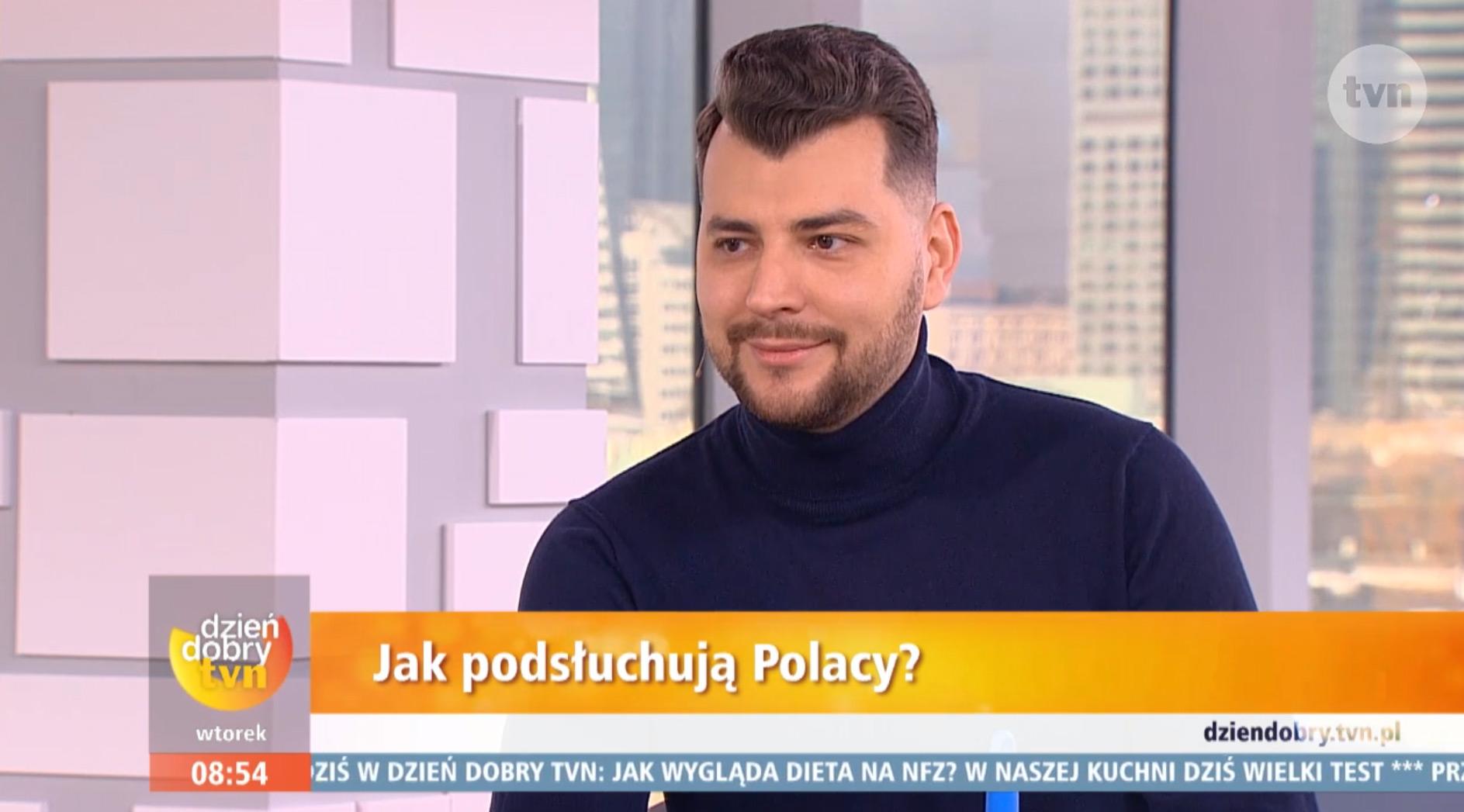 Jak podsłuchują się Polacy – Bartosz Weremczuk w programie Dzień Dobry TVN